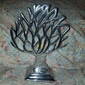 Handmade pewter jewelry tree